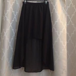 Pac Sun Kirra black high low medium skirt