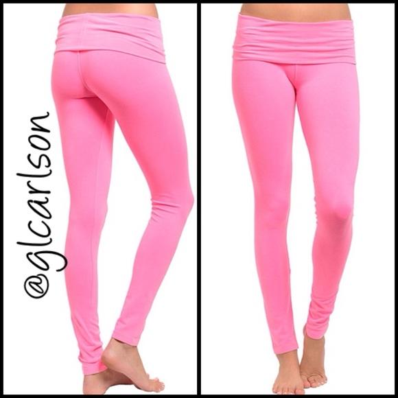 Neon Pink Yoga Pants From Geraldine