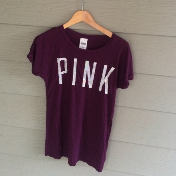 PINK Victoria's Secret - Maroon Victoria's Secret pink shirt from ...