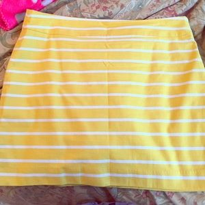 Banana Republic yellow striped skirt