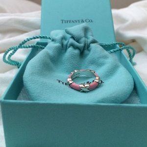 Tiffany & Co Collectors Item  Enamel X Ring