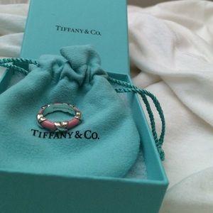 Tiffany & Co. Jewelry - Tiffany & Co Collectors Item  Enamel X Ring