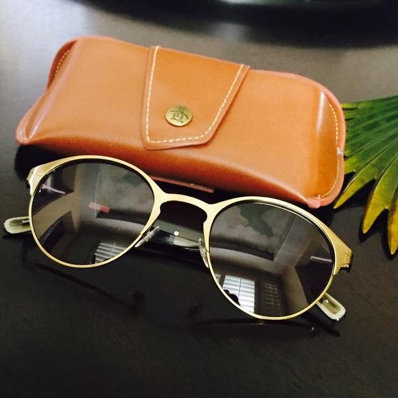 Classic Retro Style Bronze Sunglasses Leather case