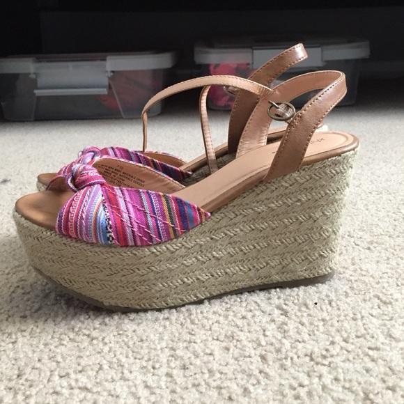 75 xhilaration shoes wedges from s closet on