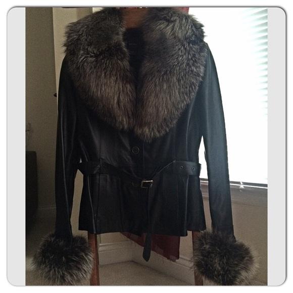950f2d469409 Gian Mori Jackets & Coats | Black Classic Leather Fur Jacket | Poshmark