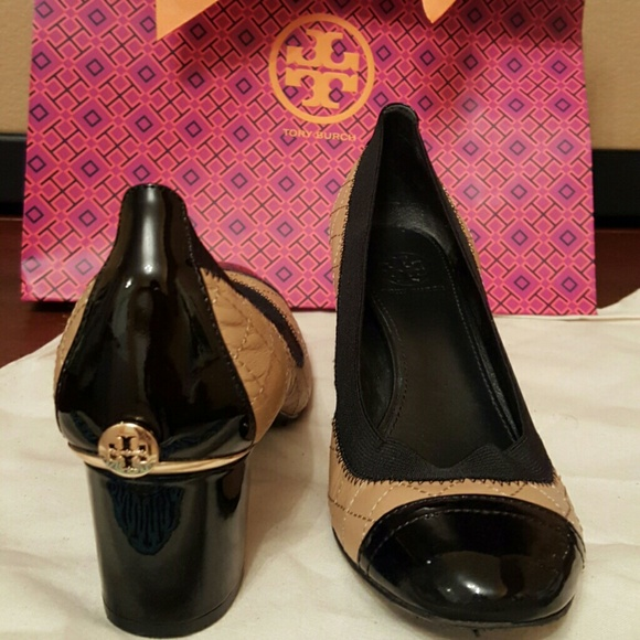 c5d0ea342a Tory Burch 'Carrie' Quilted Leather Cap Toe Pumps.  M_5580acf401930c6f9b002786