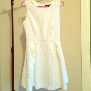 Forever 21 White Eyelet Dress