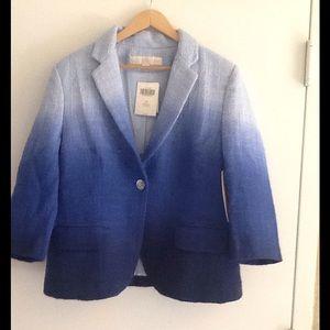 Boston Proper Ombre Jacket blue
