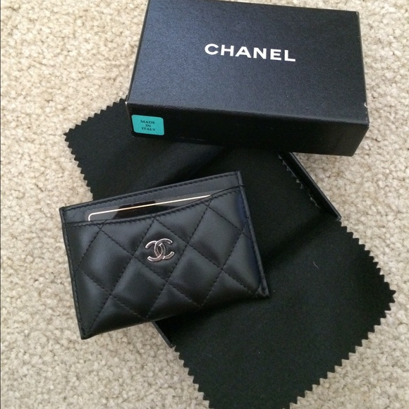 chanel card holder. 100%auth chanel wallet/card holder sold card i
