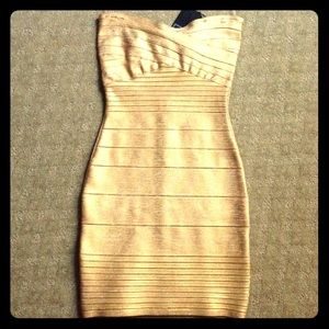 Herve Leger Dresses & Skirts - AUTHENTIC HERVE LEGER BANDAGE DRESS SIZE SMALL