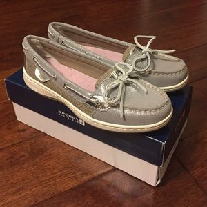 Sperry Top-Sider Shoes - Brand New grey sparkle angelfish Sperrys