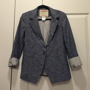 Anthropologie Chambray Blazer