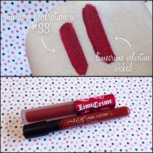 Me ow lipstick dupe for Lime Crime wicked