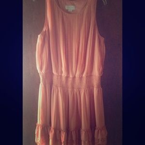 Jessica Simpson Coral flowy ruffle Dress 👗 Large