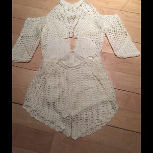 bec0652636e Free People Other - Handmade Crochet Romper Free People Alice McCall