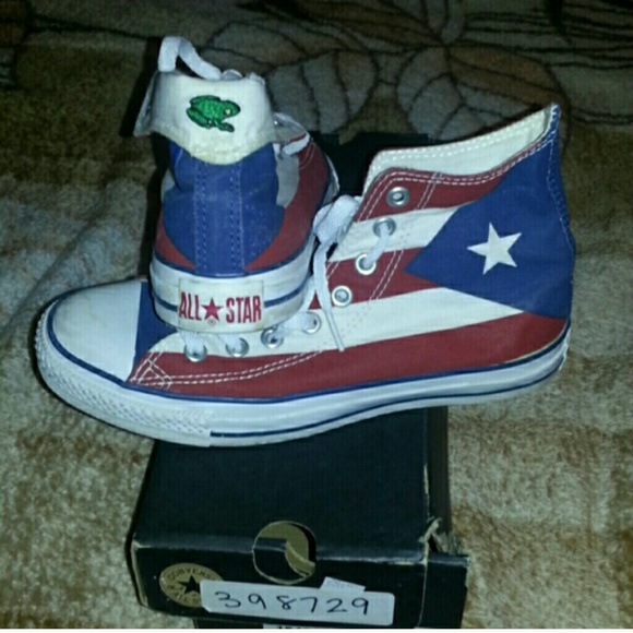 best service f83d9 358ca Converse Shoes - Happy independence day. Puerto rico converse