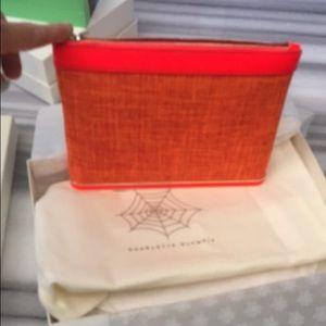 Charlotte Olympia  Handbags - Charlotte Olympia linen orange clutch