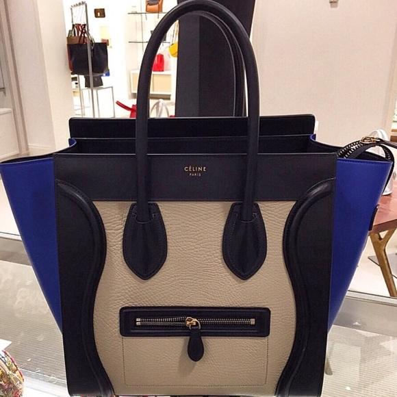 9d0111d536 Celine Mini Luggage Tri Color