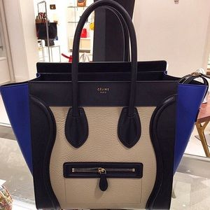 where to buy celine luggage tote - 11% off Celine Handbags - Celine Mini Luggage Tri Color from ...