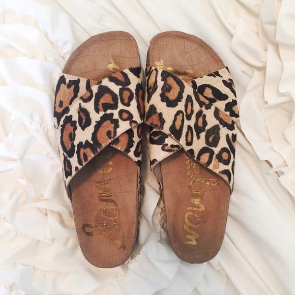 73c2f5f21361 Sam Edelman Leopard Adora Sandals. M 558192980e61764f150009ca