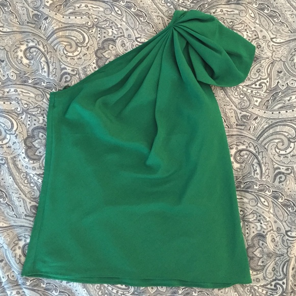fa5467376c2 Kelly Green One Shoulder Blouse from The Limited. M_558198d3b909cf3c55000ab6