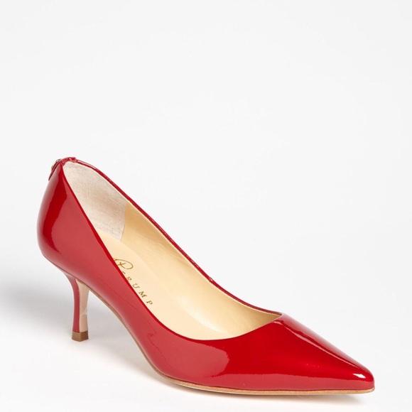 NWT Ivanka Trump -Strawberry Red Indico Pump - 5.5