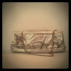 Vintage Inspired Silver Clutch Purse