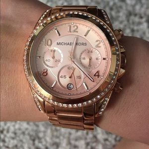 Michael Kors Rose Gold watch with crystals