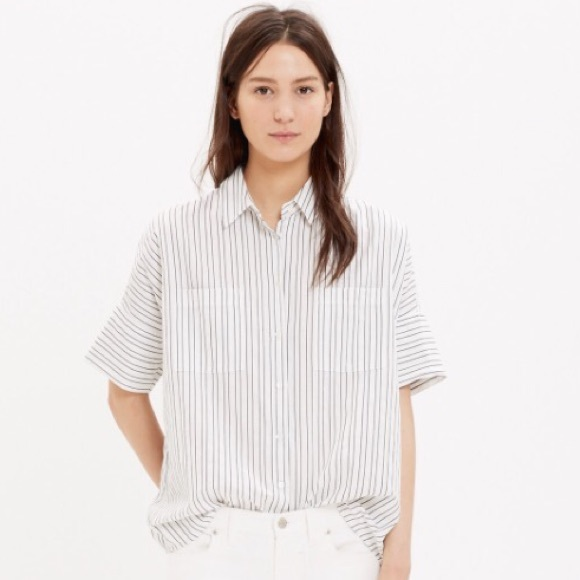 8f2c4a8f Madewell Tops | Courier Shirt In Stripe | Poshmark
