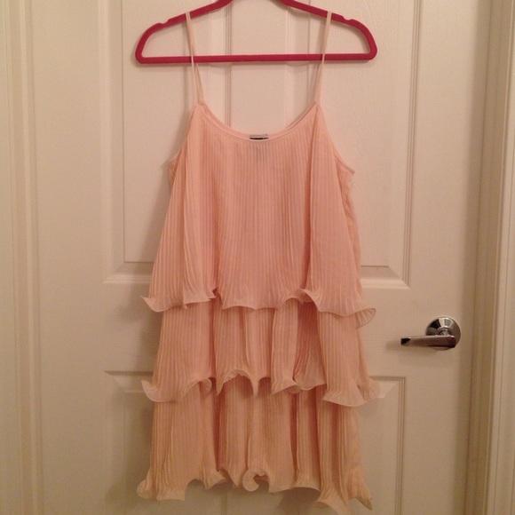 f698ccbee47c H&M Dresses | Pink Pleated Tiered Dress | Poshmark
