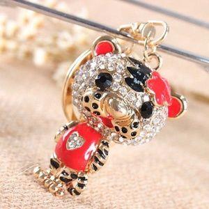 Tiger Crystal Charm keychain