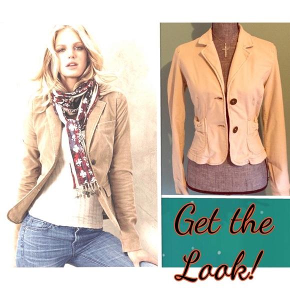 Plugg Jeans Jackets & Blazers - Plugg Jeans Beige Corduroy Blazer Jacket Medium