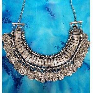 Silve Boho Coin Necklace