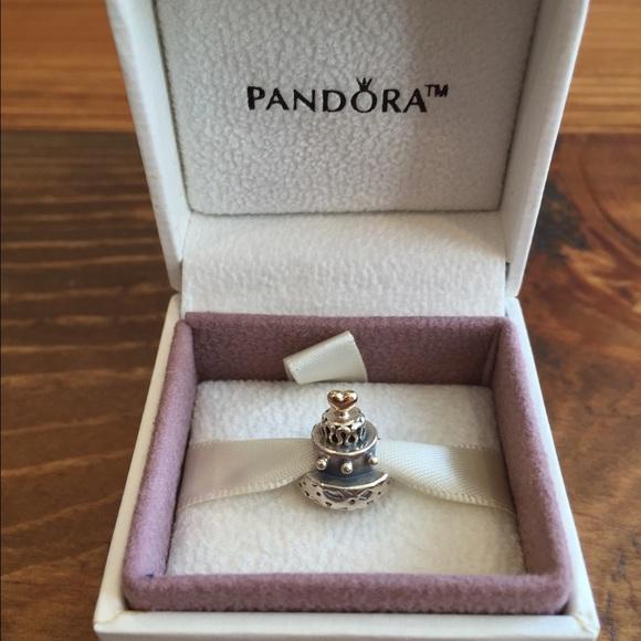 c678cba12 NWB Pandora Two-tone Celebration Cake Charm w/ box.  M_5581cbdc4973b631780017f8