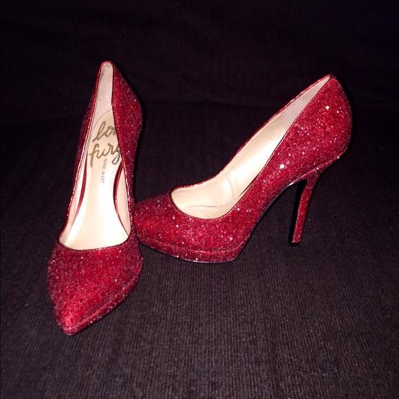 Red Sparkle Nine West Heels
