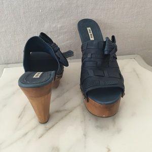Miu Miu clog heels
