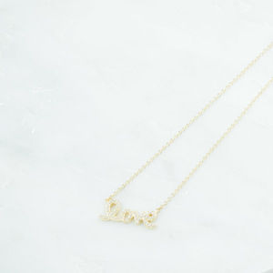 TREMENDOUS GOLD PLATED STERLING SILVER LOVE NECKLACE