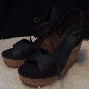 Forever 21 Peep toe wedges