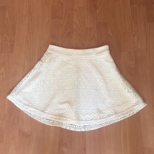 A White Lace Skater Skirt