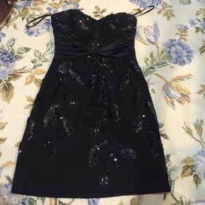 BCBG MAXAZRIA strapless dress with sequins