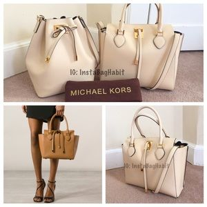 Michael Kors Handbags - NWT Auth Michael Kors Collection Miranda Tote Med