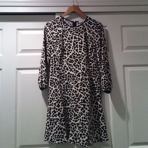 Loft ¾ Sleeve Leopard-Print Shift Dress