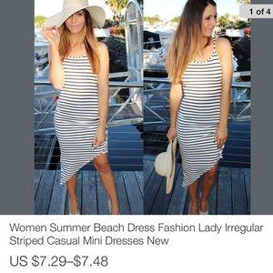 Women's high low dress SML