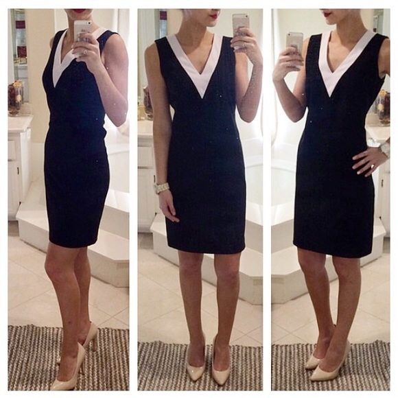 Calvin Klein Dresses Black And White Sheath Dress Poshmark