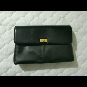 NWT J. Crew Leather Clutch