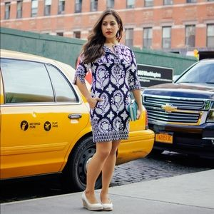 DVF printed silk tunic dress