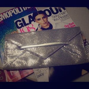 Victoria's Secret silver sparkle clutch