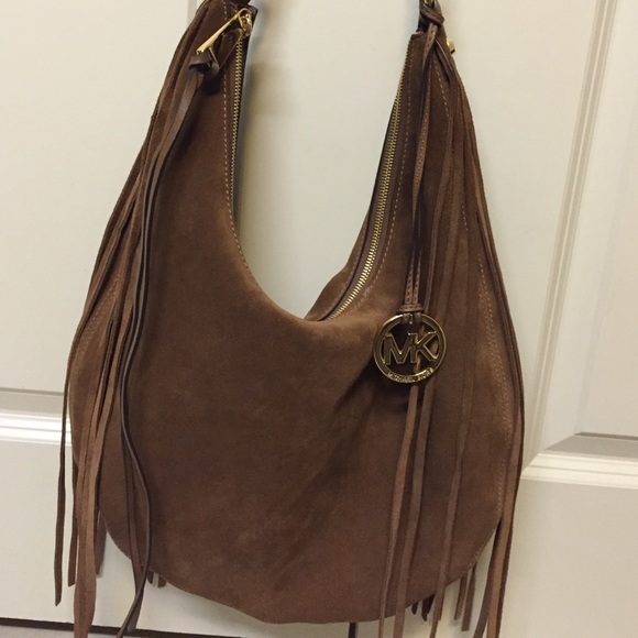 83% off Michael Kors Handbags - Authentic Michael Kors Suede ...
