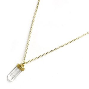Jewelry - New | Clear Quartz Water Drop Necklace