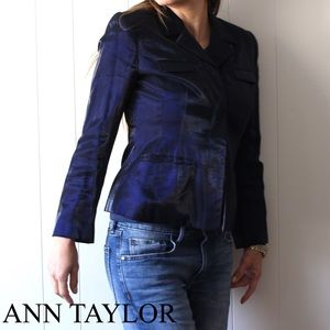 Ann Taylor metallic Navy Blue Blazer